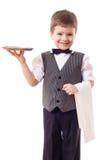 λίγος σερβιτόρος δίσκων πετσετών Στοκ εικόνες με δικαίωμα ελεύθερης χρήσης