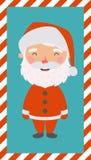 λίγο santa Χριστούγεννα και νέα κάρτα απεικόνιση αποθεμάτων