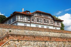 Ίδρυμα μεγάρων για την προστασία των μνημείων στο φρούριο ή Beogradska Tvrdjava Kalemegdan Βελιγράδι Στοκ Φωτογραφίες