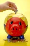 ίζημα τραπεζών piggy Στοκ φωτογραφίες με δικαίωμα ελεύθερης χρήσης