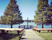λίμνη εκκλησιών Στοκ εικόνες με δικαίωμα ελεύθερης χρήσης