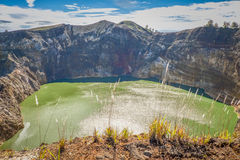 λίμνη ηφαιστειακή Στοκ Φωτογραφίες