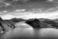 λίμνη Λουγκάνο Στοκ Φωτογραφίες