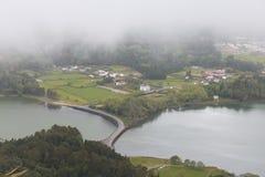 λίμνη ομίχλης Στοκ Εικόνες