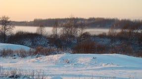 λίμνη ομίχλης Στοκ φωτογραφία με δικαίωμα ελεύθερης χρήσης