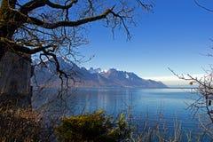 λίμνη της Γενεύης στοκ εικόνα