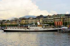 λίμνη της Γενεύης Στοκ εικόνα με δικαίωμα ελεύθερης χρήσης