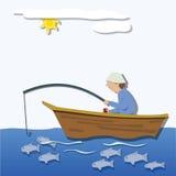 λίμνη ψαράδων βραδιού ακτών Στοκ Εικόνες