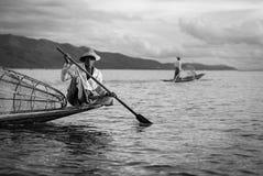 λίμνη ψαράδων βραδιού ακτών Στοκ Εικόνα