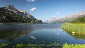 λίμνη sils απόθεμα βίντεο