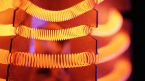 Ίνα βολφραμίου της ηλεκτρικής θερμάστρας απόθεμα βίντεο