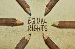 ίσα δικαιώματα Στοκ φωτογραφία με δικαίωμα ελεύθερης χρήσης