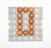 δίσκος εγγράφου αυγών για την αγορά Στοκ εικόνα με δικαίωμα ελεύθερης χρήσης