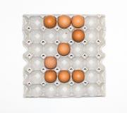 δίσκος εγγράφου αυγών για την αγορά Στοκ Εικόνες