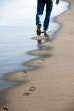ίχνη άμμου Στοκ Εικόνες