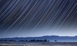 Ίχνη αστεριών λιμνών πυραμίδων Στοκ Φωτογραφία