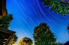 Ίχνη αστεριών πίσω αυλών Στοκ Εικόνα