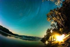 Ίχνη αστεριών, Liptovska Mara, Σλοβακία Στοκ φωτογραφίες με δικαίωμα ελεύθερης χρήσης
