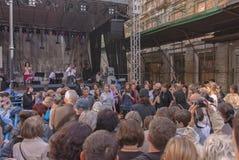 Ίχνη εβραϊκής Βαρσοβίας - φεστιβάλ 2010 πολιτισμού Στοκ Φωτογραφία