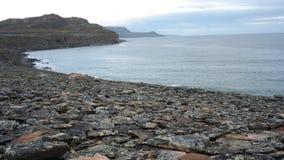 Ίχνη θέσης εποχής του λίθου, Mortensnes Στοκ Φωτογραφίες