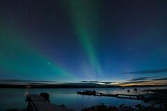 Ίχνη και αυγή αστεριών Στοκ εικόνα με δικαίωμα ελεύθερης χρήσης