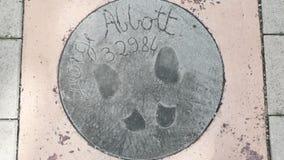Ίχνη και υπογραφή του George Abbot Στοκ φωτογραφία με δικαίωμα ελεύθερης χρήσης