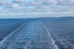 Ίχνη μετά από το σκάφος Στοκ φωτογραφίες με δικαίωμα ελεύθερης χρήσης