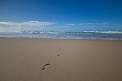 Ίχνη ποδιών άμμου Στοκ Εικόνες