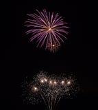 Ίχνη πυροτεχνημάτων στον ουρανό Στοκ εικόνες με δικαίωμα ελεύθερης χρήσης