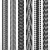 Ίχνη ροδών Σύνολο αυτοκινήτων ροδών Μαύρη ρόδα σχεδίων για το αυτοκίνητο ελεύθερη απεικόνιση δικαιώματος