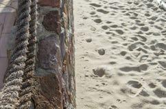 Ίχνη στην άμμο Στοκ Φωτογραφία