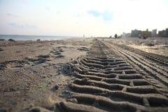 Ίχνη στην άμμο Στοκ εικόνες με δικαίωμα ελεύθερης χρήσης