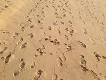 Ίχνη στην άμμο Στοκ φωτογραφία με δικαίωμα ελεύθερης χρήσης