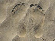 Ίχνη στην άμμο Στοκ εικόνα με δικαίωμα ελεύθερης χρήσης