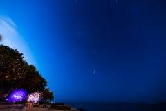 Ίχνη τέχνης και αστεριών ροής Στοκ Εικόνες