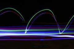 Ίχνη του φωτός Στοκ Εικόνες