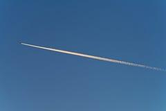 Ίχνος αεροπλάνου Στοκ Εικόνες