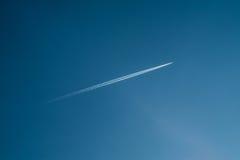 Ίχνος αεροσκαφών Στοκ εικόνες με δικαίωμα ελεύθερης χρήσης