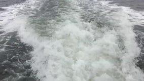 Ίχνος από τη βάρκα απόθεμα βίντεο