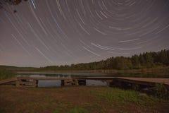 Ίχνος αστεριών λιμνών Hartley Στοκ Εικόνες