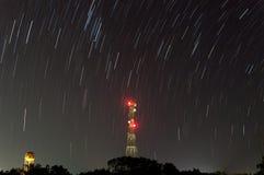 Ίχνος αστεριών τη νύχτα Στοκ εικόνα με δικαίωμα ελεύθερης χρήσης
