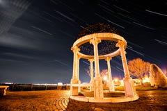 Ίχνος αστεριών φυτειών με τριανταφυλλιές Στοκ φωτογραφία με δικαίωμα ελεύθερης χρήσης