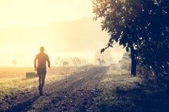 Ίχνος ατόμων που τρέχει στη χώρα Στοκ φωτογραφία με δικαίωμα ελεύθερης χρήσης