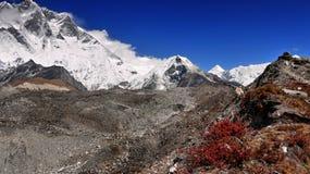 Ίχνος βουνών των Ιμαλαίων Νεπάλ Everest Στοκ Εικόνες