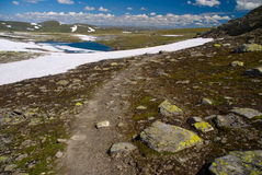 ίχνος βουνών Στοκ Εικόνες