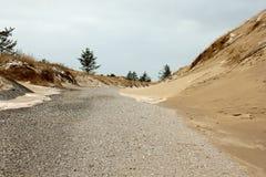 Ίχνος μέσω των αμμόλοφων Στοκ Φωτογραφία