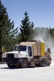 ίχνος οχημάτων αποκομιδής απορριμμάτων οδών σκόνης Στοκ Φωτογραφία