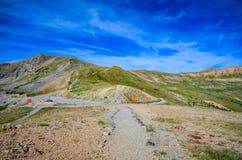 Ίχνος - πέρασμα Loveland - Κολοράντο στοκ εικόνα