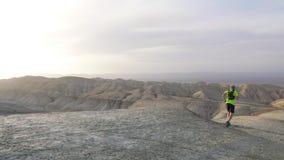 Ίχνος που τρέχει στην έρημο απόθεμα βίντεο