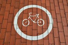 Ίχνος ποδηλάτων Στοκ Εικόνα